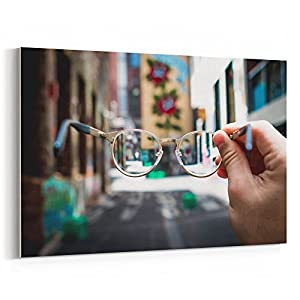 Westlake Art - Canvas Print Wall Art - Glasses Eyewear on Canvas Stretched Gallery Wrap - Modern Picture Photography Artwork - Ready to Hang - 18x12 (f30 8a2)