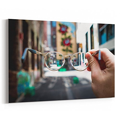 Westlake Art - Canvas Print Wall Art - Glasses Eyewear on Canvas Stretched Gallery Wrap - Modern Picture Photography Artwork - Ready to Hang - 18x12 (f30 - Return See Eyewear Policy