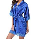 2019 Underwear,Women's Lady Sexy Lace Sleepwear Satin Nightwear Lingerie Pajamas Suit