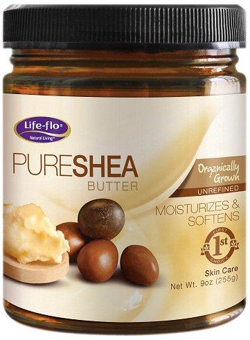 Life-Flo Organic Pure Shea Butter, 9-Ounce 67114