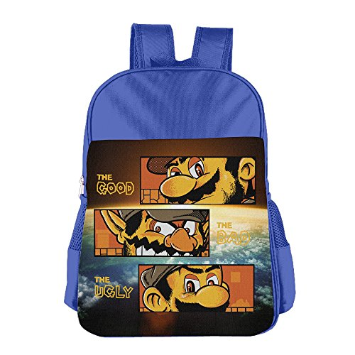 SUPER ARCADE WESTERN Kids School Backpack Bag RoyalBlue