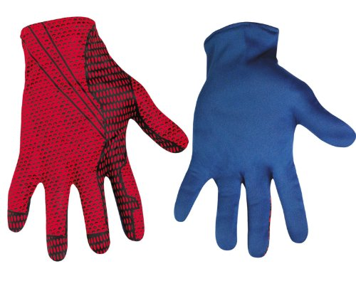 Disguise Marvel The Amazing Spider-Man 3D Movie Adult Gloves, Red/Blue, One Size Costume (Amazing Spider Man Costumes)