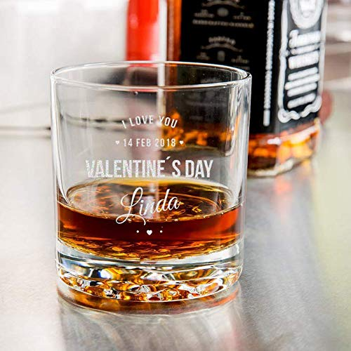 Nob Old Fashioned Hill (Center Gifts Valentine's Day Libbey Nob Hill Rocks/Old Fashioned Glass - Personalize It with the Name For You or Your Loved Once - Best Personalized Gift Idea)