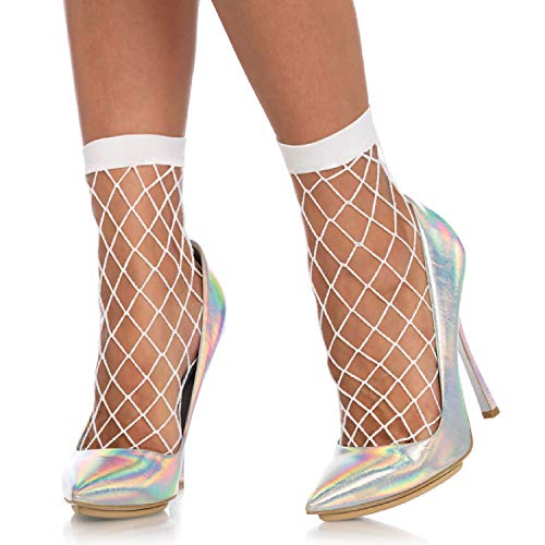 Leg Avenue Womens Diamond Fishnet Anklet Socks