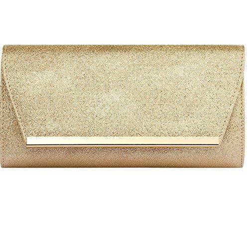 Gold Evening Clutch - Womens Evening Clutch Bridal Prom Handbag shoulder bag Wedding Purse Party Bag