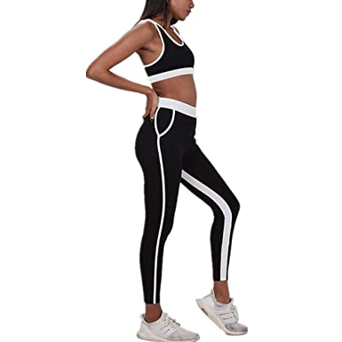 Morbuy Yoga Wear Set, Womens 2 Pcs Sports Bra Pants Set ...