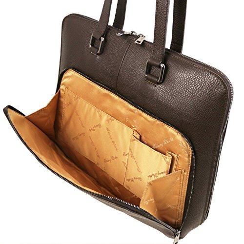 Tuscany Leather - Lucca - Borsa business TL SMART in pelle morbida per donna - TL141630 (Rosso) Testa di Moro