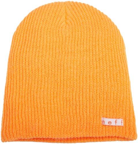 Neff Unisex Daily Beanie, Warm, Slouchy, Soft Headwear, Orange, One (Orange Logo Beanie)
