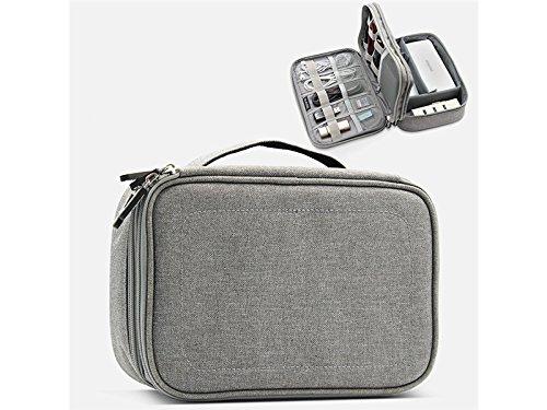 OVIIVO Memory Cases Multi-Function Digital Headphone Storage Bag Mobile Power Protection Case U Disk Finishing Pack Travel Organizer Bag (Grey) by OVIIVO
