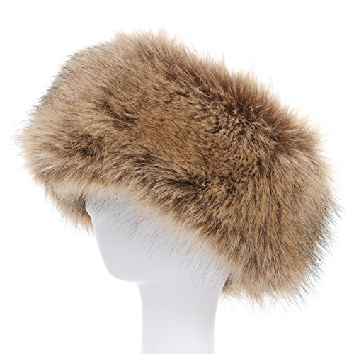 La Carrie Faux Fur Headband with Stretch Women's Winter Earwarmer Earmuff (Fox Fur Earmuffs)