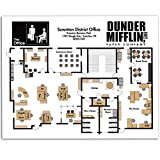 home office layout Dunder Mifflin Floor Plan - 11x14 Unframed Art Print - Great Gift Under $15 to The Office Fans, Also Makes a Great Office Decor