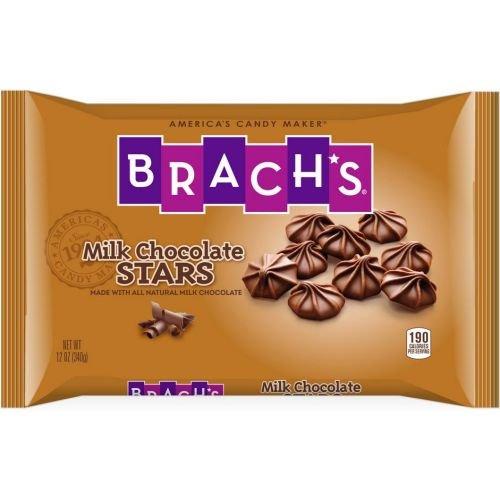 Brachs Milk Chocolate Stars Candy, 12 Ounce -- 12 per case. (Brachs Chocolate Stars)