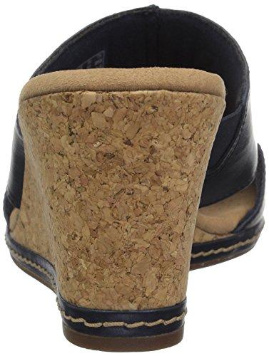 Clarks Womens Lafley Mio Platform, Navy Leather, 5.5 Medium US