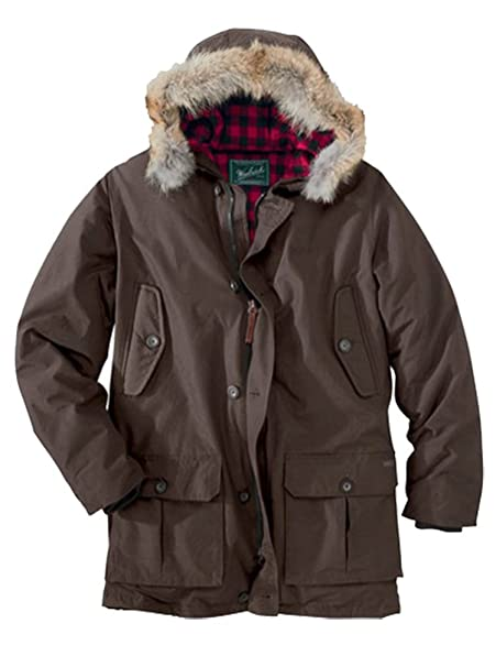 1940s Mens Clothing Woolrich Mens Arctic Parka Coat Dark Wood $319.99 AT vintagedancer.com
