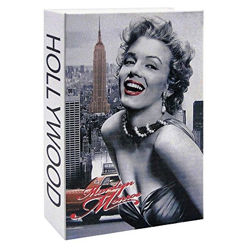 ALEKO Diversion Book Safe with Key Lock for Home, Business Marilyn Monroe (265X200X65)