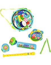 HTI Peppa Pig Pack Away Drum | Kids' Musical Instrument Set Includes 5 Instruments Great For Little Boys & Girls