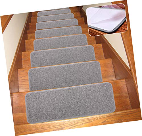 Seloom Carpet Stair Treads Non Slip Indoor Set of 13 Stair Treads Rug/Covers/Mats Grey, 25.5