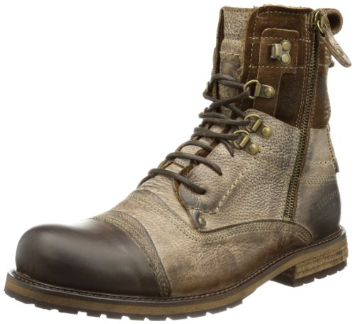Yellow Cab Soldier M, Anfibi Uomo Marrone (Braun (Tan))