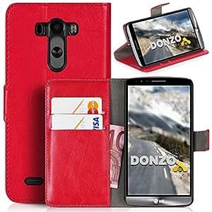 DONZO Wallet Washed Funda para LG G3 rojo