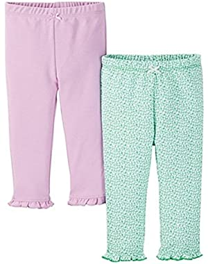 Just One You Baby Girls' Floral 2-Pack Legging Pant - Purple