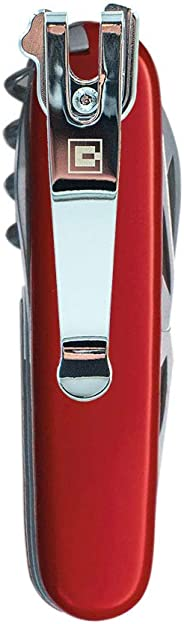 SwissQlip Deep Carry Pocket Clip Compatible with 91mm Victorinox Swiss Army Knife Models (Chrome)