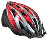 Schwinn Thrasher Lightweight Microshell Bicycle Helmet Featuring 360 Degree Comfort System with Dial-Fit Adjustment, Youth, Red