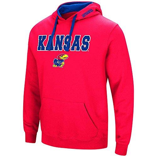 Colosseum Mens Kansas Jayhawks Pull-Over Hoodie - M