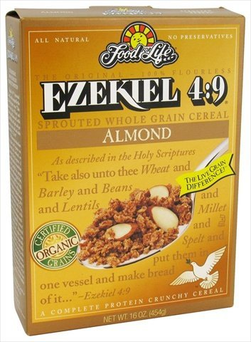 Food For Life Ezekiel 4:9 Organic Sprouted Grain Cereal, Almond, 16-Ounce Boxes (Pack of 6) by Food for Life [Foods] by Food for Life