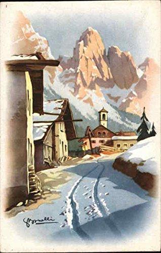 Winter Scene Artist Signed Original Vintage ()