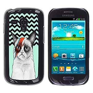 Dragon Case - FOR Samsung Galaxy S3 MINI 8190 - Smile because it happened - Caja protectora de pl??stico duro de la cubierta Dise?¡Ào Slim Fit