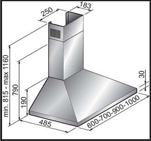 Sogelux – Campana chimenea de 60 cm Sogelux - HCL62N - Color negro: Amazon.es: Grandes electrodomésticos