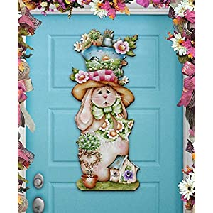 Easter Wreath - HAILEY HARE Wooden Door Hanger by Jamie Mill Price - Wall decor - Wall Hanging #8457603H 97