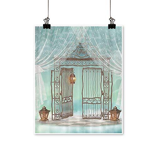 Canvas Prints Artwork Artsy AnIr Gate of iry Garden with Lanterns Game Board Artwork Wall,28