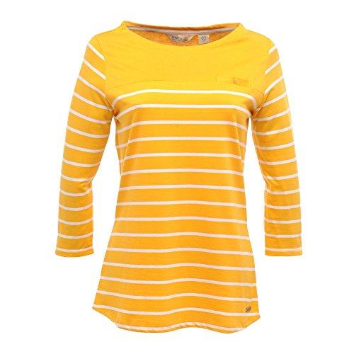Regatta - Camiseta de manga larga a rayas Modelo Abyssal Wildshores Colección Great Outdoors para mujer señora Oro viejo