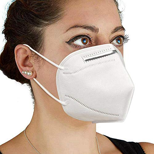 2PCS Disposable 4-Layer KN95 Breathing Masks, Disposable Air Filter Masks Against Dust, Pollution, Particle, Pollen, Smoke, Safety Face Mask