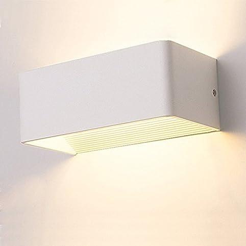 Unimall 7W LED Wandleuchte Bett Innen Modern Design Rechteck Wandlampe  Eckig Minimalistisch Schickt Nacht Für Schlafzimmer