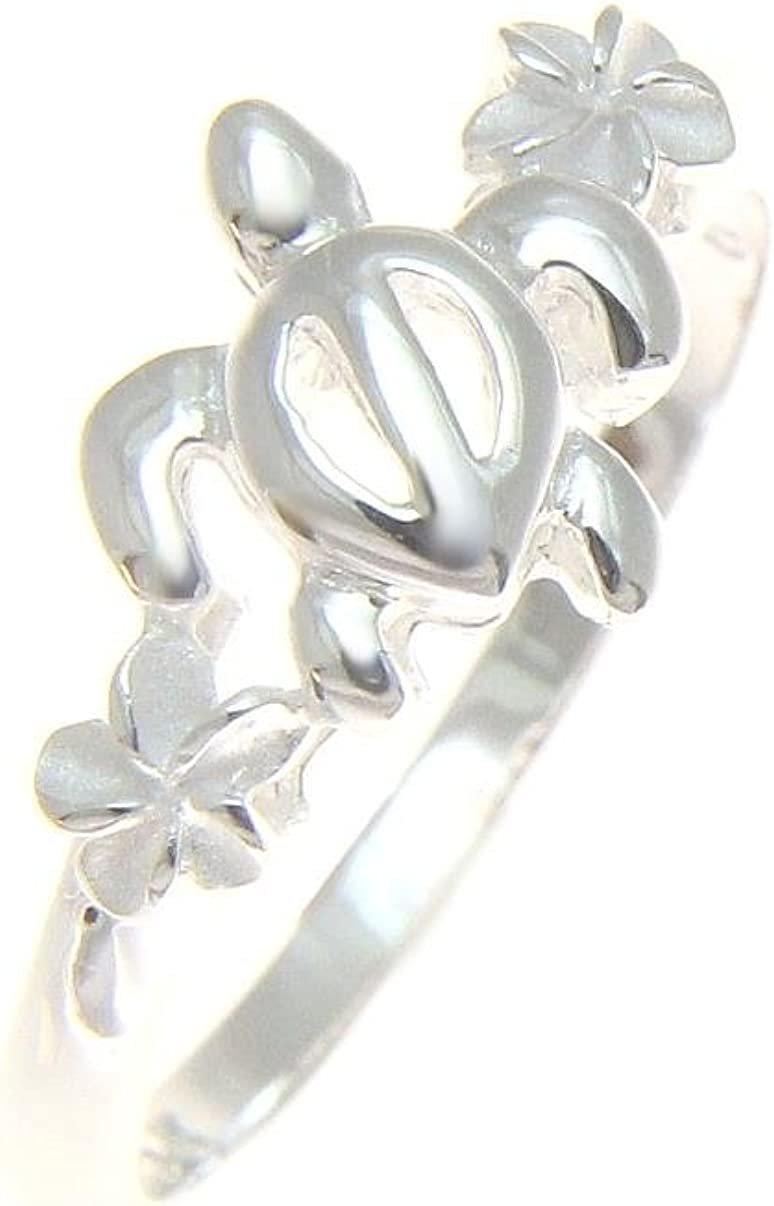 PLUMERIA FLOWER BAND Ring All Genuine Sterling Silver.925 Stamped Size 10