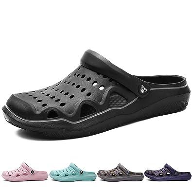 9fb8ba3120e5 BIGU Beach Sandals Mens Womens Water Shoes Swim Pool River Shoes Mesh  Garden Clogs Outdoor Walking