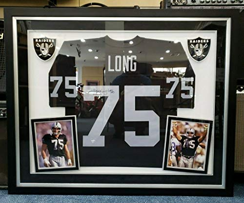 Howie Long Autograph - Howie Long Raiders Hall Of Fame Framed & Autographed Signed Autograph Jersey Fanatics Coa