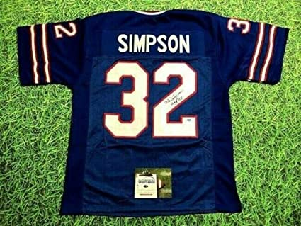 sneakers for cheap b7ef3 d5b0a OJ SIMPSON AUTOGRAPHED BUFFALO BILLS THROWBACK JERSEY AASH ...