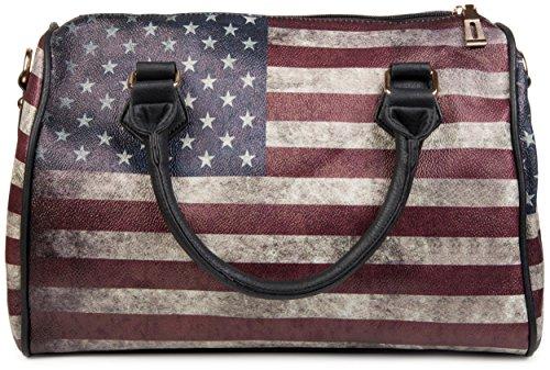 sacoche amp; sac StyleBREAKER stars en uSA sac stripes vintage qnC0Oxq