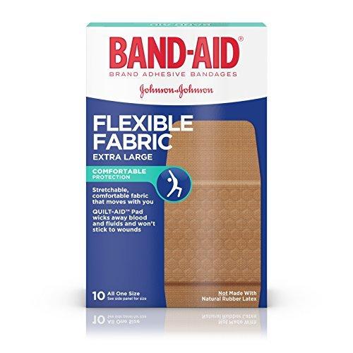 (BAND-AID Flexible Fabric Bandages, Extra Large 10 ea (Pack of)