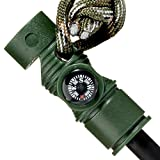 Swiss Safe 5-in-1 Fire Starter with Compass, Paracord and...