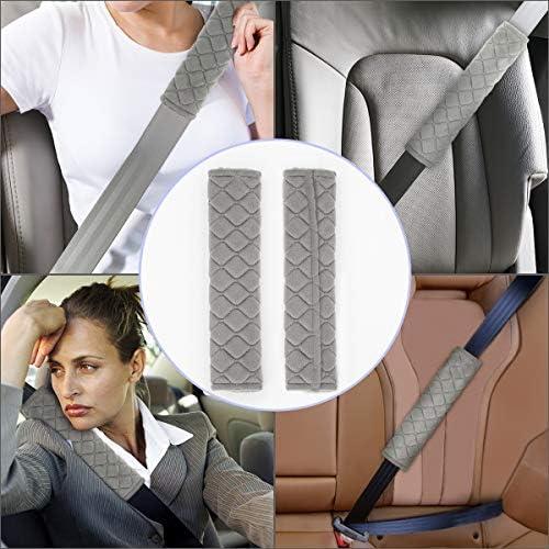 Style-1, Gris Aitsite Housse de Ceinture de S/écurit/é Prot/ège-sangles de Ceinture de S/écurit/é pour voiture avec 4 paquets Prot/ège-ceintures