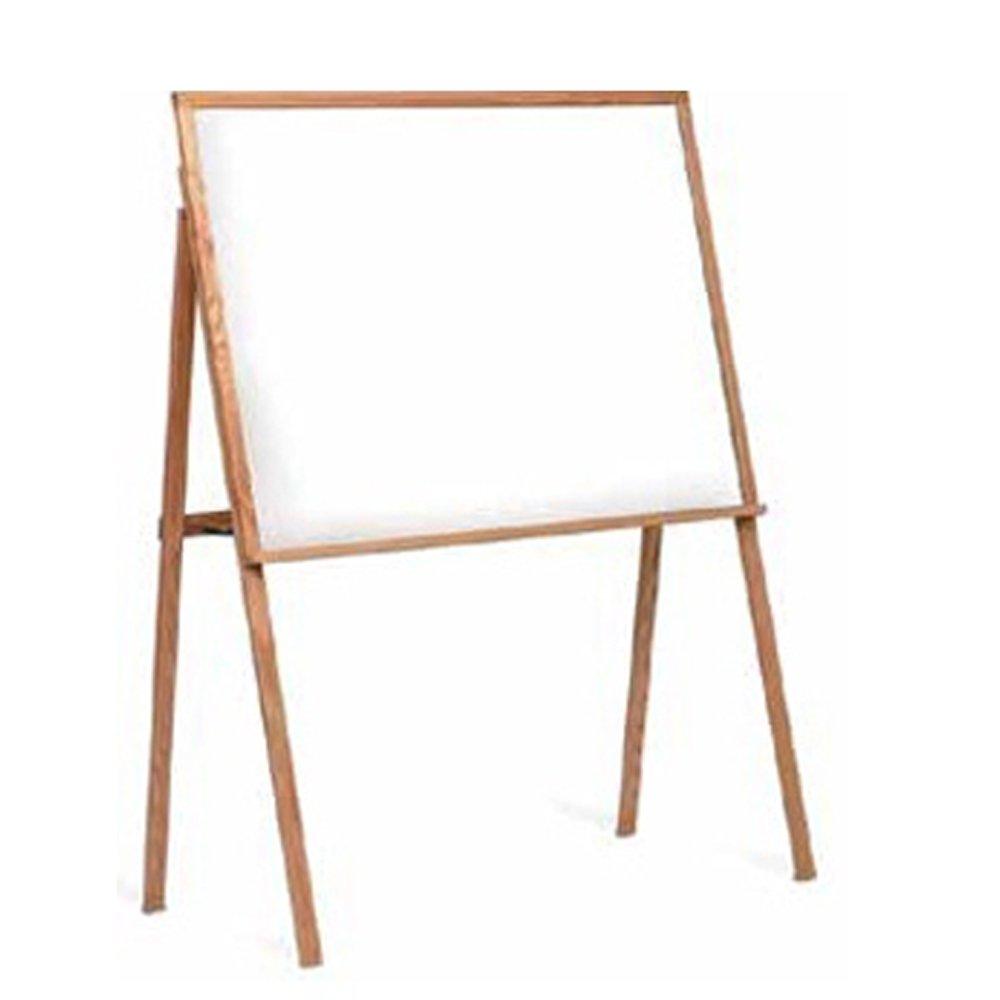 Marsh 64X48 Green Composition Chalkboard Presentation Easel, Oak Wood Frame
