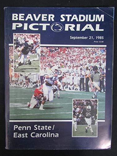 - Penn State Beaver Stadium Pictorial Football Program 1985 vs East Carolina 332
