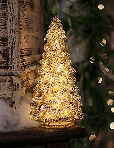 silver mercury glass christmas tree 105 inch battery operated - Mercury Glass Christmas Trees