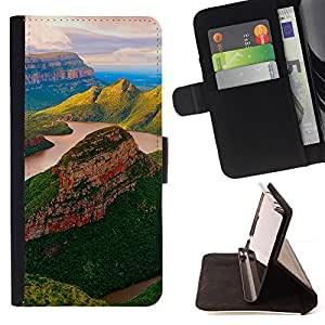 For Samsung Galaxy A3 - yuzhnaya afrika blyde river reka /Funda de piel cubierta de la carpeta Foilo con cierre magn???¡¯????tico/ - Super Marley Shop -
