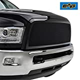 2015 ram grill - EAG 13-18 Dodge Ram 2500/3500 Wire Mesh Grille Replacement Black Stainless Steel Front Main Upper With Shell (44-0838)
