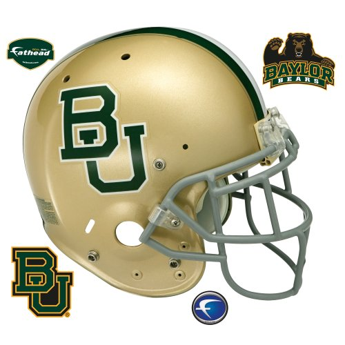 FATHEAD NCAA Baylor Bears Team Helmet Wall Graphic